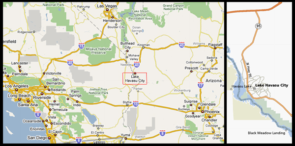 Map of Lake Havasu